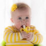 【55专享】免费直邮中国!Baby Banana 硅胶幼儿牙胶牙刷
