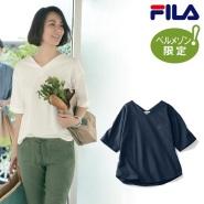 千趣会限定款:FILA 斐乐 V领纯棉T恤 2700日元(约162元)