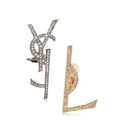 "9折!Saint Laurent ""YSL""logo分解 耳钉"