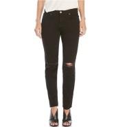 J BRAND Jake Low-Rise Skinny Jeans 黑色破洞紧身牛仔裤 $69.99(约507元)
