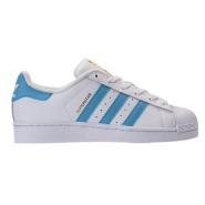 """蓝色贝壳头也参加满减!Adidas Originals 三叶草""""superstar"""" 大童款运动鞋 金标 $49.98(约362元)"""