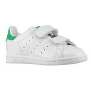 5姐宝宝们同款 Adidas Originals 三叶草 Stan Smith 学步儿童运动鞋 绿尾