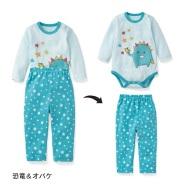 支持银联卡!Belle Maison 千趣会 儿童长袖睡衣套组 1155日元(约69元)