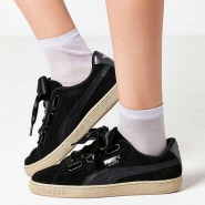【2色选 码全!】Puma 彪马 Basket Heart Metallic Safari 女士蝴蝶结运动鞋
