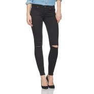 【中亚Prime会员】7 For All Mankind Skinny 女士破洞修身中腰牛仔裤