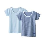 【中亚Prime会员】GUNZE Disney(迪斯尼) 高级2件装 Boys 儿童 条纹短袖T恤