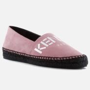 【免费直邮中国】Kenzo Classic Metallic Logo 粉红色麂皮鞋