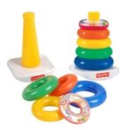 费雪 儿童益智玩具 彩虹套圈 Rock-A-Stack N8248 适合6个月以上儿童