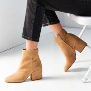秋天的靴子买起来~【中亚Prime会员】Sam Edelman 麂皮复古粗高跟踝靴