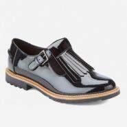【凑单包邮中国】Clarks Griffin Mia Patent Frill 女士T型皮鞋