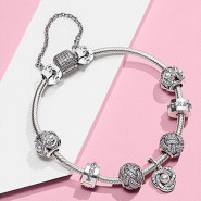 0税免邮!【中亚Prime会员】Pandora 潘多拉 永恒的心 925银女士串饰安全链 791088-04