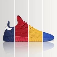 骚气新配色上新 Adidas Originals 和 菲董PHARRELL WILLIAMS 合作款 Tennis Hu 运动鞋