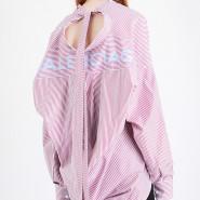 【两色可选】Balenciaga 巴黎世家 印花条纹休闲棉衬衫