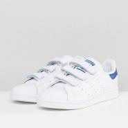 免费直邮中国!adidas Originals 三叶草 Stan Smith 男士魔术贴复古小白鞋
