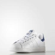 超低价!【美亚自营】Adidas Originals 三叶草 Stan Smith Little Kid 童款蓝尾运动鞋