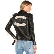 小众品牌 Understated Leather Slogan 机车皮衣