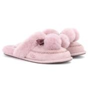 【限时免邮最后一天】UGG Australia Hafnir 粉色毛毛球拖鞋