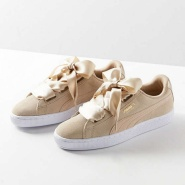 【再降价!】Puma 彪马 Basket Heart Metallic Safari 女士蝴蝶结运动鞋