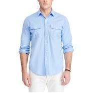 Ralph Lauren 拉夫·劳伦 男款斜纹长袖衬衫 多色选
