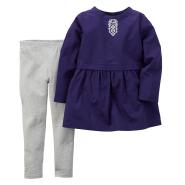 【中亚Prime会员】Carter's 卡特 女童纯棉长款上衣+长裤两件套