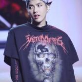 中國有嘻哈 吳亦凡同款 Vetements 印花純棉T恤