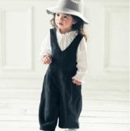 Belle Maison 千趣会 女童时尚休闲背带裤