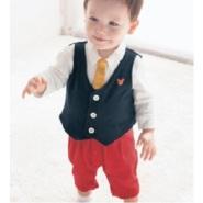 Belle Maison 千趣会 婴儿欧式休闲礼服连体衣