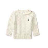 Ralph Lauren 拉夫·劳伦 9-24M 纯色绞花针织毛衣