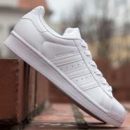 下单立减!adidas Originals 阿迪达斯 White Superstar 女款全白款运动鞋