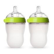 补货!Comotomo 可么多么硅胶奶瓶 250ml 2只装 粉/绿色可选