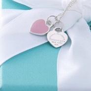 史低价,现在入手圣诞礼物啦!【亚马逊海外购】Tiffany&Co 蒂芙尼 粉色双心吊坠项链
