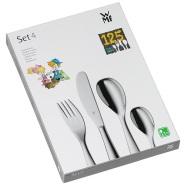 【中亚Prime会员】WMF 福腾宝 cromargan 18/10不锈钢拉丝儿童餐具套装 4件套