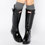 免邮!Hunter 经典高筒时尚黑色雨靴