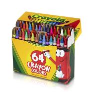 白菜价!【中亚Prime会员】Crayola 绘儿乐 64色彩色水洗蜡笔套装