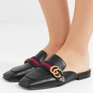 【定价低!】Gucci 古驰 Peyton 女士真皮拖鞋