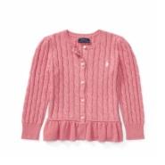 【黑色星期五!】Ralph Lauren 拉夫·劳伦 2-6岁女宝宝甜美纯色毛衣开衫
