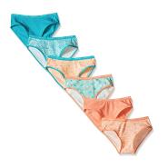 【中亚Prime会员】Calvin Klein 卡尔文·克莱恩 Peach Nectar 女童内裤6条装