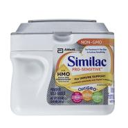 【中亚Prime会员】Similac 美国雅培 Pro-Sensitive 1段非转基因婴幼儿奶粉 638g 低聚糖防过敏