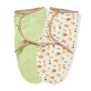 【中亚Prime会员】SwaddleMe Original 有机棉襁褓 动物园和鼠尾草 两件装 小号