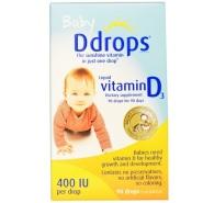 【3件免邮+立减$5】Ddrops 婴儿液体维生素D3 400IU 2.5ml