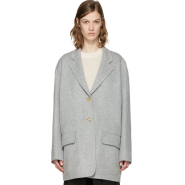 M码最后一件~Acne Studios Grey Lupi Doublé Coat 灰色简约款大衣