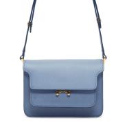 最后一只~Marni Blue Small Trunk Bag 小号蓝色风琴包
