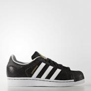 【黑色星期五!】adidas Originals 阿迪达斯 Superstar Reptile 大童款金标贝壳头鞋 成人可穿