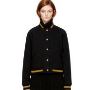 好看,最后一件XS~See by Chloé Black Club Bomber Jacket 黑色飞行员夹克