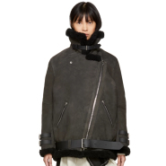 Acne Studios Grey Shearling Velocite Jacket 灰色羊羔绒外套