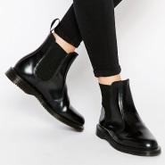 【中亚Prime会员】Dr. Martens Flora 切尔西女款圆头套脚马丁靴