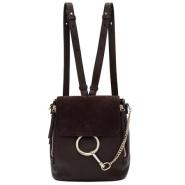 Chloé Brown Small Faye Backpack 深棕色背包