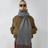 【包邮包税!】Acne Studios 艾克妮 Canada Skinny 纯色羊毛窄版围巾 男女同款 多色可选