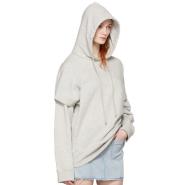MM6 Maison Martin Margiela Grey Basic Layered Hoodie 女款灰色卫衣