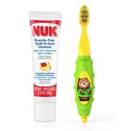 【中亚Prime会员】NUK 婴幼儿牙刷+可吞咽牙膏套装